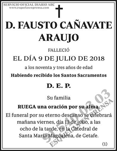 Fausto Cañavate Araujo